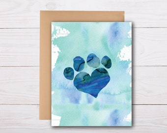 loss of a pet - sympathy card, grief card, bereavement card