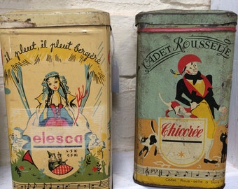 Orginal French vintage tin - Elesca