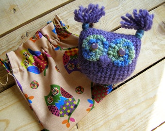 Soft Hand Knitted Owl