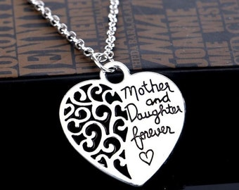 Mother and Daughter Forever Pendant Necklace, Best Friends, Love Her, Besties, Mothers Day, Mom's Birthday, Just Because