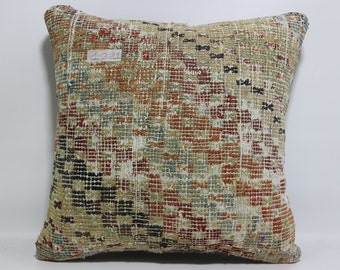 Decorative Kilim Pillow 16x16 Kilim Pillow 16x16 Kilim Cushion Cover,Tribal Pillow,Embroidery Kilim Pillow Throw Pillow SP4040-1221