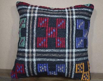 "Kilim Pillow,Kilim Cushion Cover Throw Pillow Turkey Kilim Pillow 16"" x 16"" 40cm x 40 cm SP40-307"