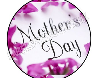 35 x 37mm Personalised Mothers Day Logo Stickers Labels