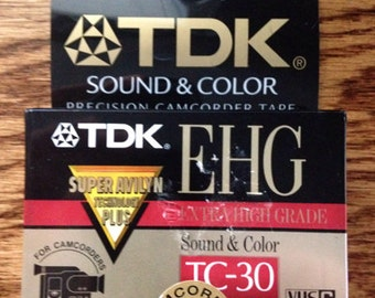 TDK-TC-30 Video Tape- Blank Media
