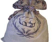 Bread Bag-Cotton  bread bag Reusable keeper-Embroidered Bread Bag-Embroidery-Machine Embroidery-OficinaDartesa*Craftswoman Shop