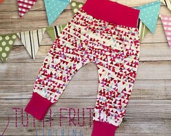 Liberty print harem pants girls jersey trousers