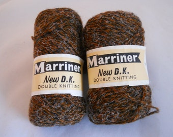 2oz (approx 55g) Vintage 1960s Marriner Double Knitting Wool/Celafibre Mix