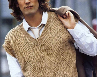 Men's vest - sweater vest made of fine Merino Wool