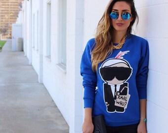 Karl Who Sweatshirt, Karl Lagerfeld Sweatshirt, Karl Lagerfeld Sweater, Karl Lagerfeld, Karl Who Sweater, Chanel Sweatshirt, Chanel