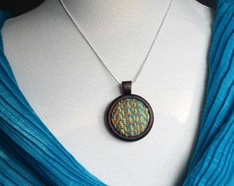 Wrap Scrap Jewelry - Necklace - Handwoven - Walnut - Keepsake - Statement Necklace - Wrap Scrap - Babywearing