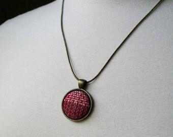 SALE - Wrap Scrap Necklace - Red/Multi - Antique Brass Finish