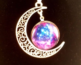 Celestial Crescent Moon Necklace
