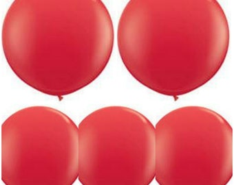 """5pcs 36"""" Red balloon Red big Balloons Red giant balloons Red Party Balloons Red birthday balloons Decoration Balloon Wedding decorations"""