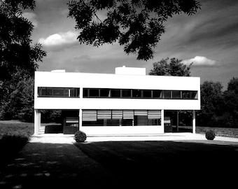 Villa Savoye: Black and White Photographic Print
