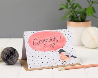 Congrats Bird Greeting Card