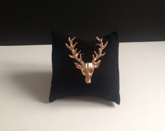 Deer deer vintage lapel pin brooch security style Harajuku, brooches, badges sheets animal head decoration clothing accessories