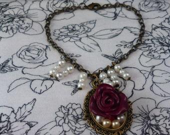 Polymer Clay Rose Bracelet