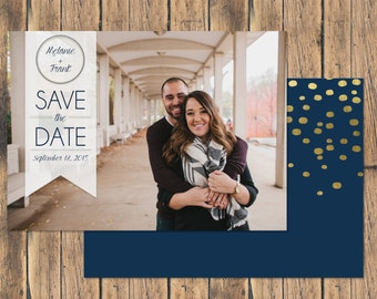 Photo Save the Date with Banner