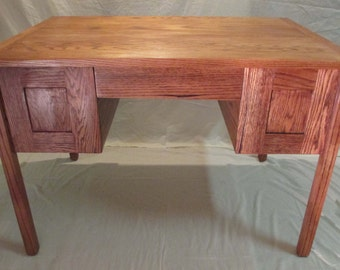 Handmade Craftsman Red Oak Writing Table