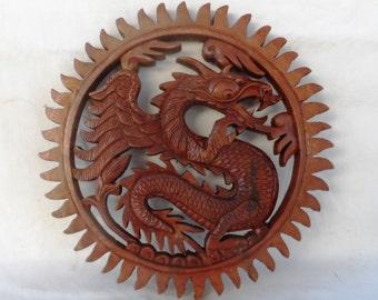Dragon wood carving (#drgwlcirsdr12)