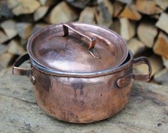 Handmade copper sauce pot sugar bowl