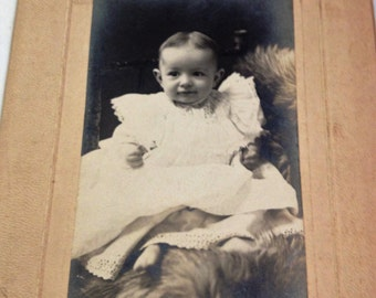 Vintage Baby Photo, Vintage Child Photo, Antique Photo Card, Vintage Photo Card,Vintage Infant Photo, Vintage Photography