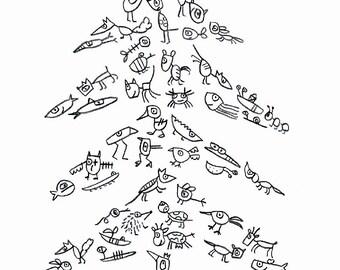 """Postcard """"ghosts of Christmas' - eDITION good spirits"""