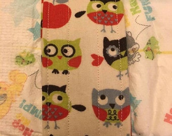 Bird and Apple Diaper Strap
