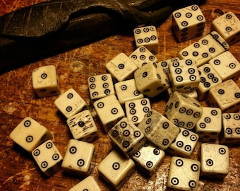 Handmade Bone Dice, Viking Dice, Medieval Dice, Carved Dice, Betting Dice
