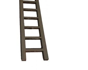 Miniature Ladder Fairy, Elf, Hobbit Door. Wooden Accessory.  Little 10 CM tall : Dolls House Furniture / Fairy Door Accessories