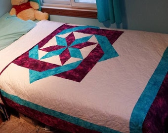 Homemade twin size quilt
