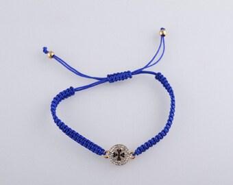 Macrame  bracelet with cross