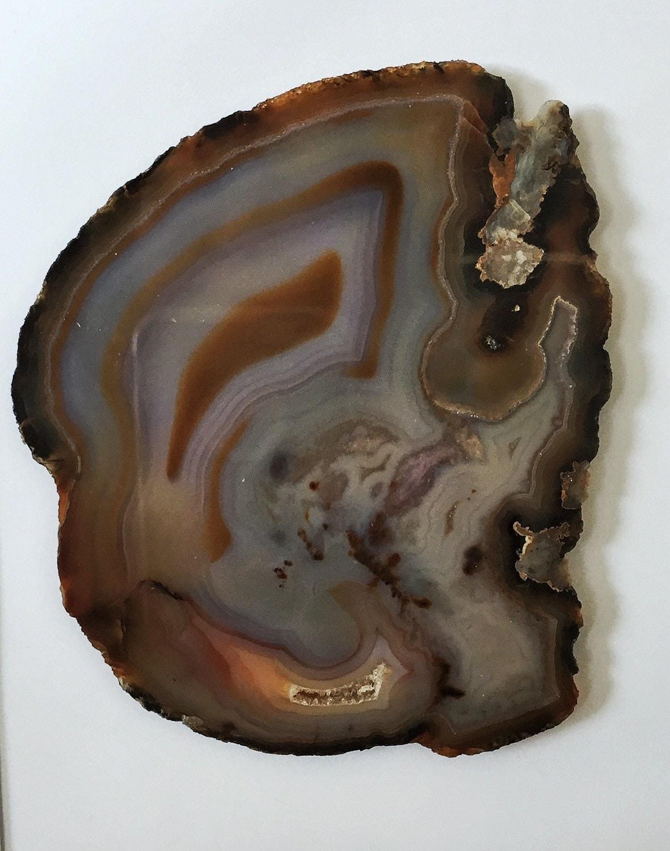 2x framed agate slice lucent home decor crystals minerals. Black Bedroom Furniture Sets. Home Design Ideas
