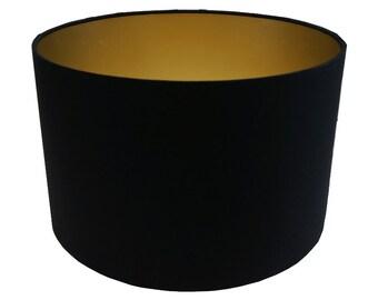 Lamp Shade, Black, Gold, Black & Gold, Home Decor, Modern Lamp Shade, Lighting, Shade