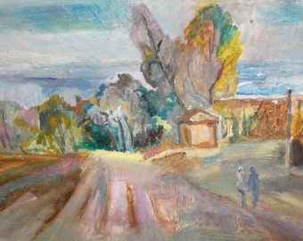 Contemporary impressionist oil painting landscape