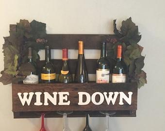 Wine Down stain wine rack