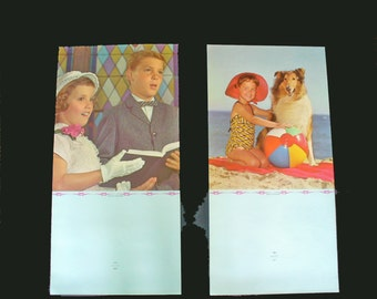 Vintage 1965 Salesman's sample calendar pictures x 2