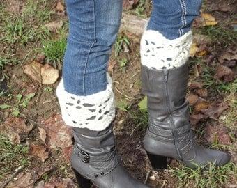 Crochet Victorian boot cuffs