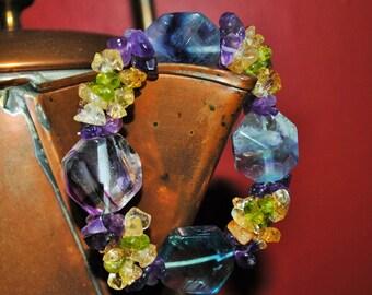Fluorite Faceted Bracelet