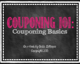 E-book-Couponing 101: Couponing Basics-INSTANT DOWNLOAD PDF