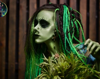 Set of classic synthetic DE dreads Halloween dreadlocks double ended dreads
