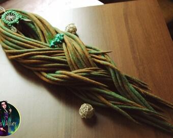 Set of 30 double ended wool dreadlocks. 30 DE dreads (60 ends)