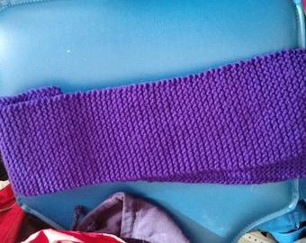 Purple knitted scarve