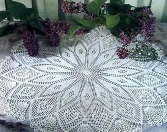 Large crochet doily - crochet doilies - Home decor - White crochet doily - Handmade tablecloth