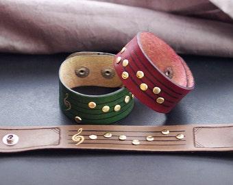 Zelda ocarina song leather wristbands