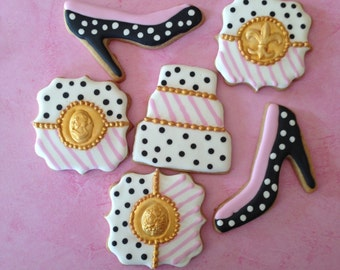 Shower Cookies, Girls Night Out, Tea Party, Bachelorette Party, Wedding, Bridal Shower, Luncheon, Favor, Rehearsal Dinner Cookies!