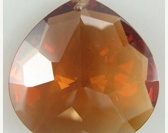 40% CLEARANCE 30mm faceted CZ cubic zirconia briolette pendant topaz 4890