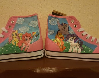 My Little Pony Friendship Is Magic Custom Hand Painted Hi-Tops Shoes