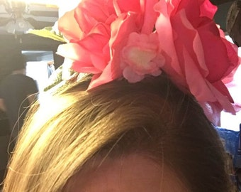 Pink flower heandband