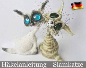 010DE Häkelanleitung - Siamkatze Amigurumi PDF Pertseva Etsy